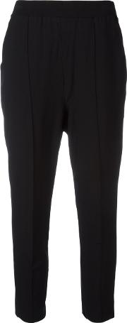 Boboutic , Cropped Trousers Women Polyesterviscose S, Black