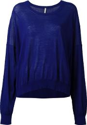 Boboutic , Knitted Top Women Cotton M, Blue