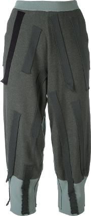 Boboutic , Patch Cropped Trousers Women Cottonpolyesterviscose S, Grey