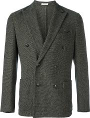 Boglioli , Double Breasted Blazer Men Cottonspandexelastanecupro 52, Grey