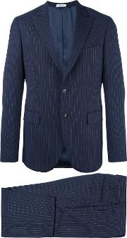 Boglioli , Formal Suit Men Cuprovirgin Wool 54, Blue