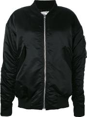 Brashy , Virtual Enemy Bomber Jacket Women Nylon Xs, Black