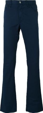 Brioni , Tapered Trousers Men Cottonpolyesterspandexelastane 33, Blue