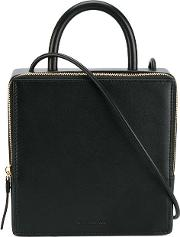 Building Block , Box Shoulder Bag Women Leather One Size, Black