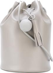 Building Block , Drawstring Bag Women Leather One Size, Grey