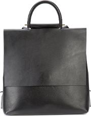Building Block , Structured Backpack Women Leather One Size, Black