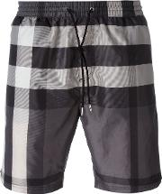 Burberry Brit , Checked Swim Shorts Men Polyester L, Grey