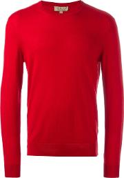 Burberry , Crew Neck Jumper Men Cottoncashmere Xxl, Red