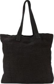 By Walid , Heavy Tote Bag Men Linenflax One Size, Black