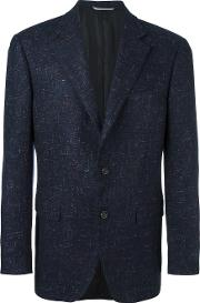 Canali , Tweed Blazer Men Cuprocashmere 52, Blue