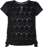 Capucci , Embroidered T Shirt Women Cotton 40, Black
