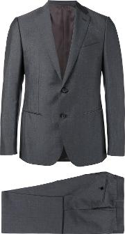 Caruso , Formal Suit Men Silkmohairwoolcupro 48, Grey