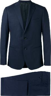 Caruso , Formal Suit Men Woolcupro 50, Blue