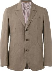Caruso , Triple Button Blazer Men Cottonlinenflaxcuproviscose 50, Green