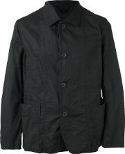 Casey Casey , Buttoned Lightweight Jacket Men Cotton M, Black