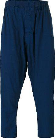 Casey Casey , Cropped Trousers Men Cotton L, Blue