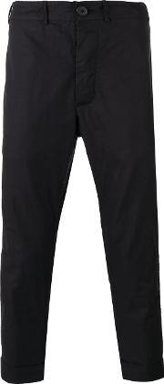Casey Casey , Drop Crotch Trousers Men Cotton M, Black