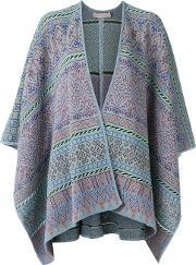 Cecilia Prado , Knit Poncho Women Viscoseacryliclurex One Size, Blue