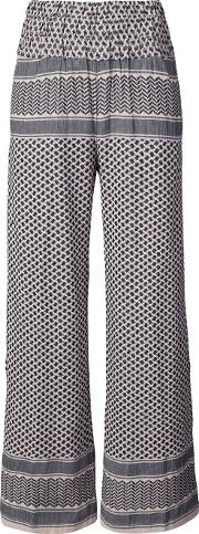Cecilie Copenhagen , High Waisted Palazzo Pants Women Cotton 1, Nudeneutrals
