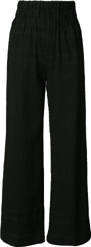 Cecilie Copenhagen , High Waisted Palazzo Pants Women Cotton 2, Black