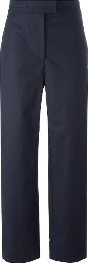 Cedric Charlier , Cropped Pants Women Cottonother Fibres 44, Blue