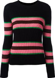 Chinti And Parker , Striped Ribbed Jumper Women Silkcotton S, Blue