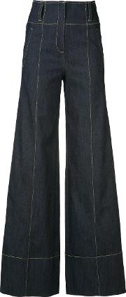 Cinq A Sept , Flared Trousers Women Cottonpolyesterspandexelastane 8, Blue