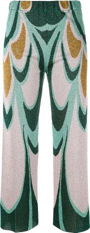 Circus Hotel , Knitted Cropped Trousers Women Viscosepolyester 40