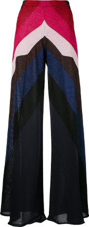 Circus Hotel , Metallic Grey Detail Wide Legged Trousers Women Polyesterviscose 42
