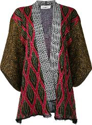 Circus Hotel , Patterned Cardigan Women Polyesterviscose 40, Black