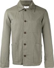 Closed , Patch Pocket Shirt Jacket Men Cottonlinenflax M, Green