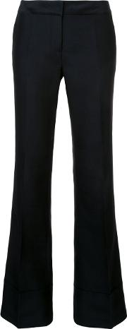 Co , Flared Trousers Women Virgin Wool Xs, Black