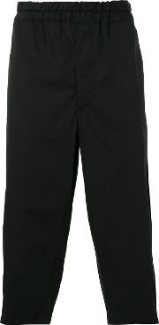 Comme Des Garcons Shirt , Cropped Trousers Men Cotton L, Black