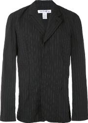 Comme Des Garcons Shirt , Pinstripe Blazer Men Cotton S, Black