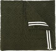 Comme Des Garcons Shirt , Striped Scarf Men Acrylic One Size, Green
