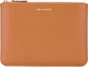 Comme Des Garcons Wallet , Embossed Wallet Women Calf Leather One Size, Brown