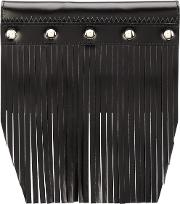 Comme Des Garcons Wallet , Fringed Stud Detail Wallet Unisex Leather One Size, Black