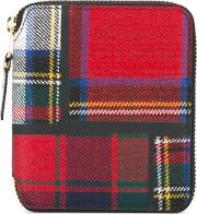 Comme Des Garcons Wallet , Tartan Wallet Unisex Polyurethanewool One Size, Red