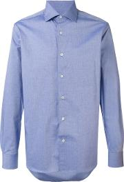 Corneliani , Classic Shirt Men Cotton 40, Blue