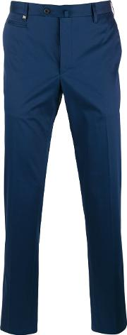 Corneliani , Tapered Trousers Men Cottonspandexelastane 46, Blue