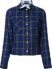 Courreges , Double Layered Shirt Women Cotton 36, Blue