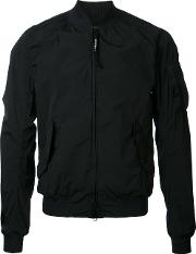 Cp Company , Arm Pocket Bomber Jacket Men Nylon 48, Black