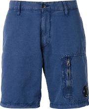 Cp Company , Bermuda Shorts Men Cottonlinenflax M, Blue