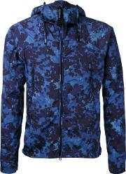 Cp Company , Camouflage Hooded Jacket Men Nylon 46, Blue