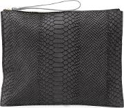 Danielle Foster , Zipped Rectangular Clutch Women Leather One Size