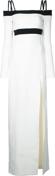 David Koma , Side Slit Off Shoulders Dress Women Spandexelastaneacetateviscose 8, White