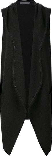Denis Colomb , Hooded Wrap Gilet Women Camel Hair S, Black
