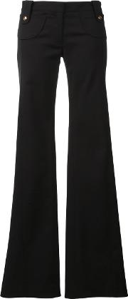 Derek Lam , Flared Trousers Women Cottonelastodienepolyamide 42, Black