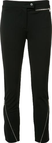 Derek Lam , Zipped Detail Cropped Trousers Women Elastodieneviscosepolyimide 36, Black