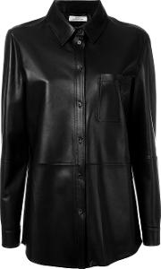 Desa Collection , Astar Shirt Women Nappa Leather 38, Black